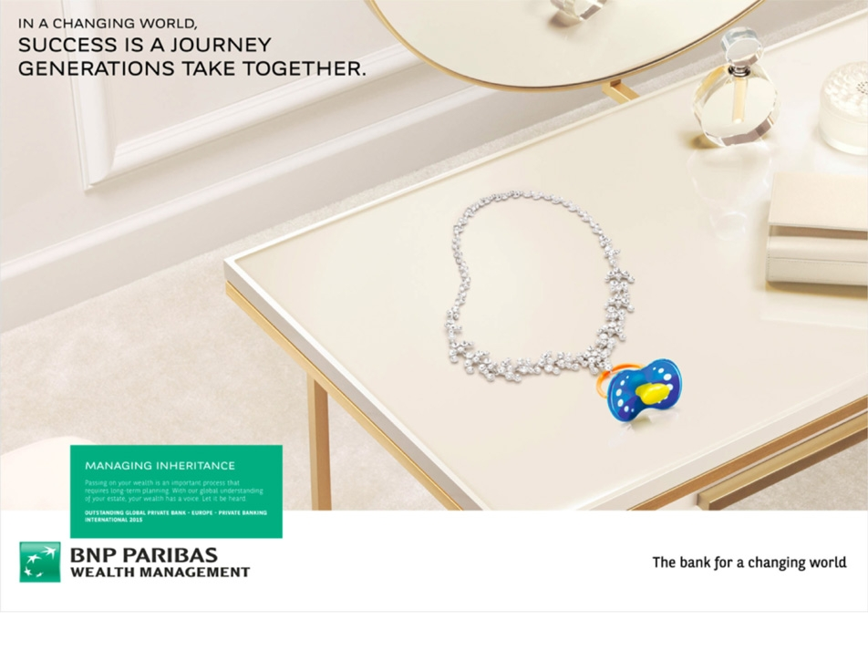 BNPP / Wealth Management: A print campaign that gives an extra dimension to wealth in a changing world.