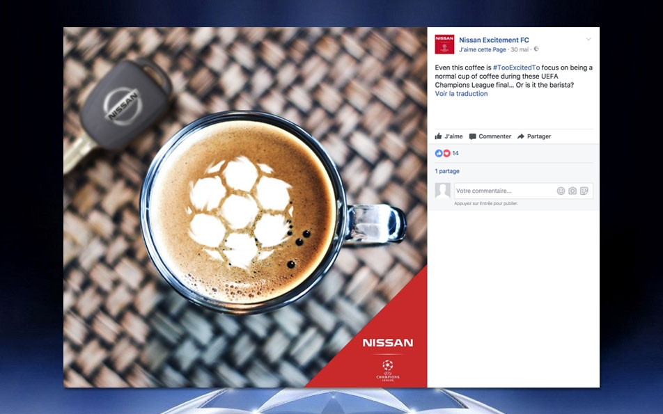 Creative development of the Nissan Excitent FC concept, Facebook content and accompanying activations.