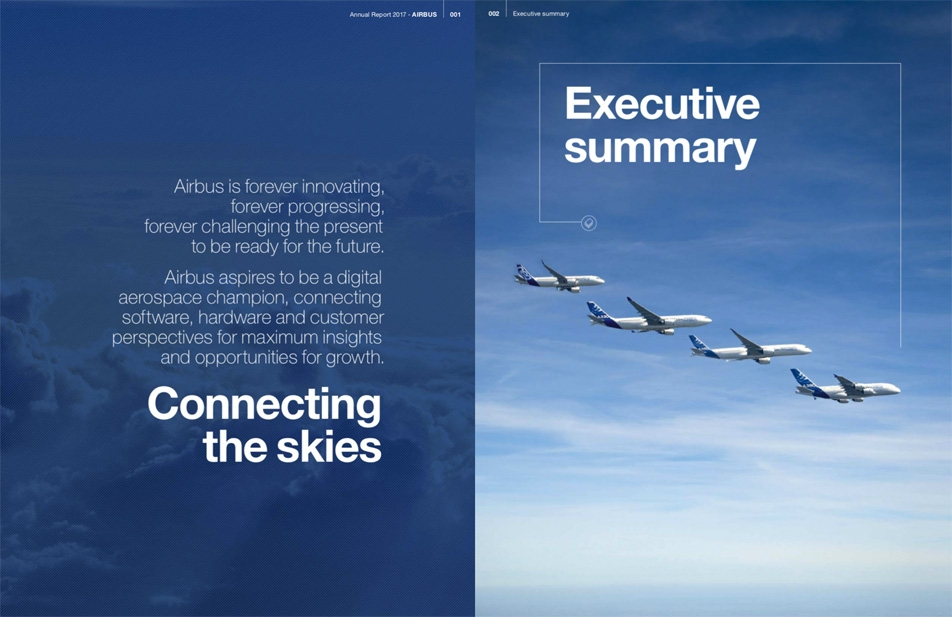 Airbus / Annual Report 2017: Today more than ever, the needs to connect the skies are essential for the future of aviation.