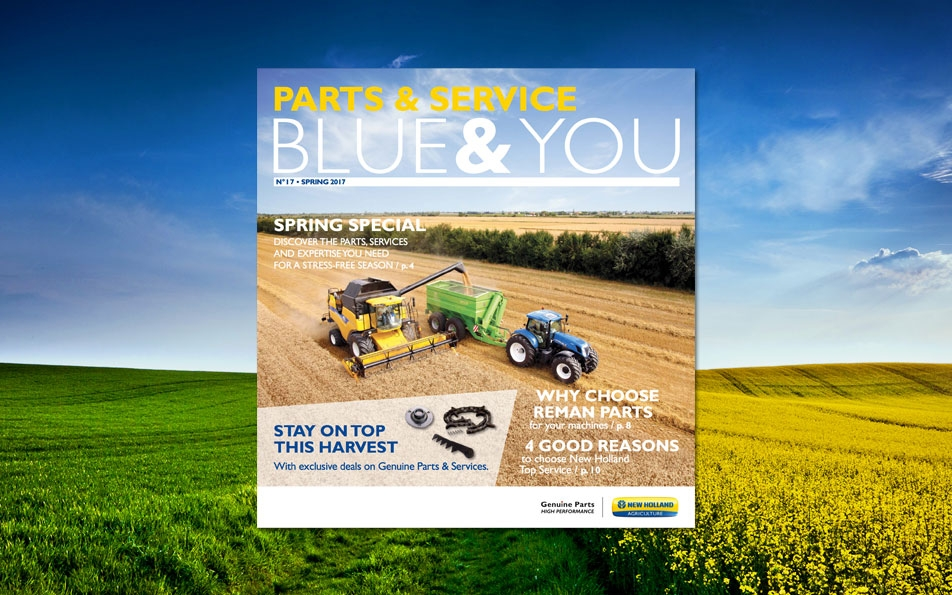 Copy for the spring issues of Maxmag (Case IH) and Blue & You (New Holland).