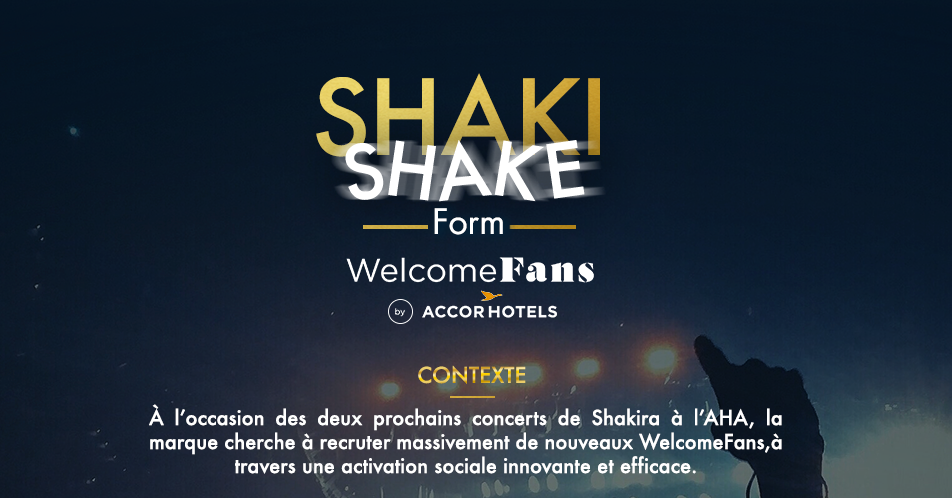 Activation pour le programme Welcome Fans by AccorHotels.