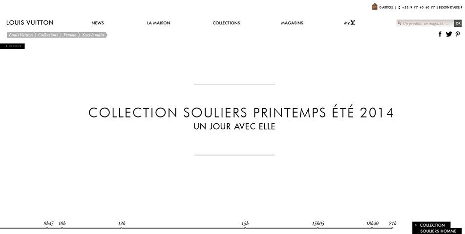 Direction Artistique // Digital // Direction artistique pour le lancement digital de la collection Souliers Printemps/Eté 2014 de Louis Vuitton. Une collaboration avec BETC Digital.