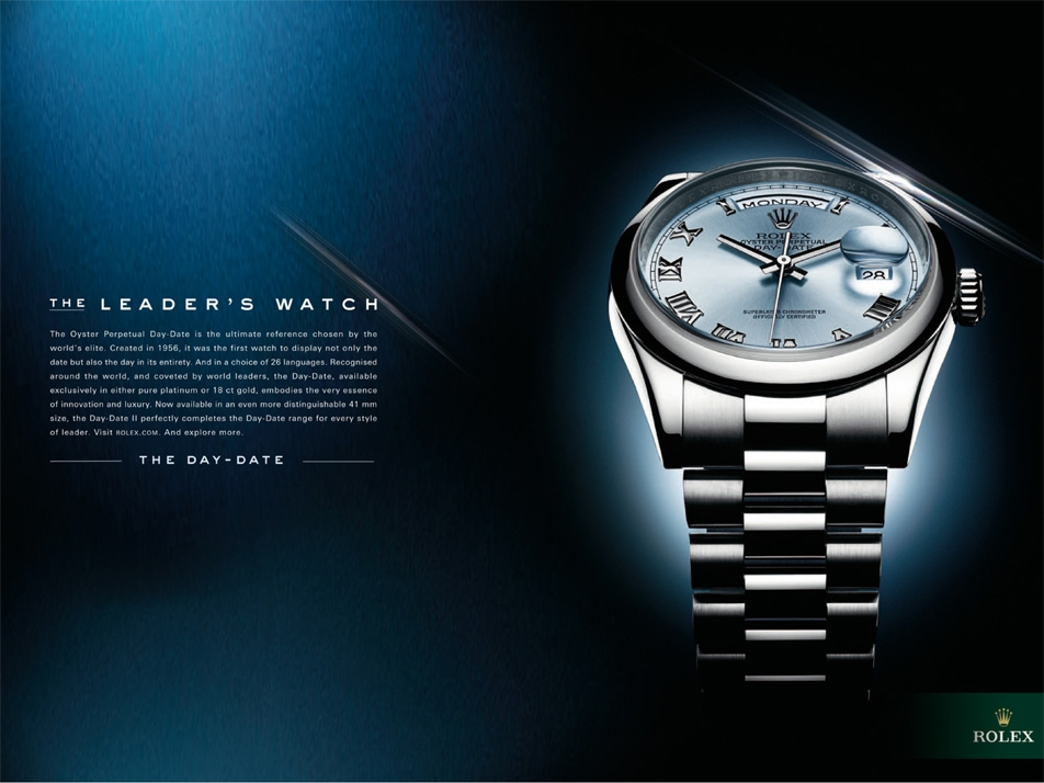 Rolex / The Watch: A print campaign that shows behind every Rolex watch, there is a story, a person.
