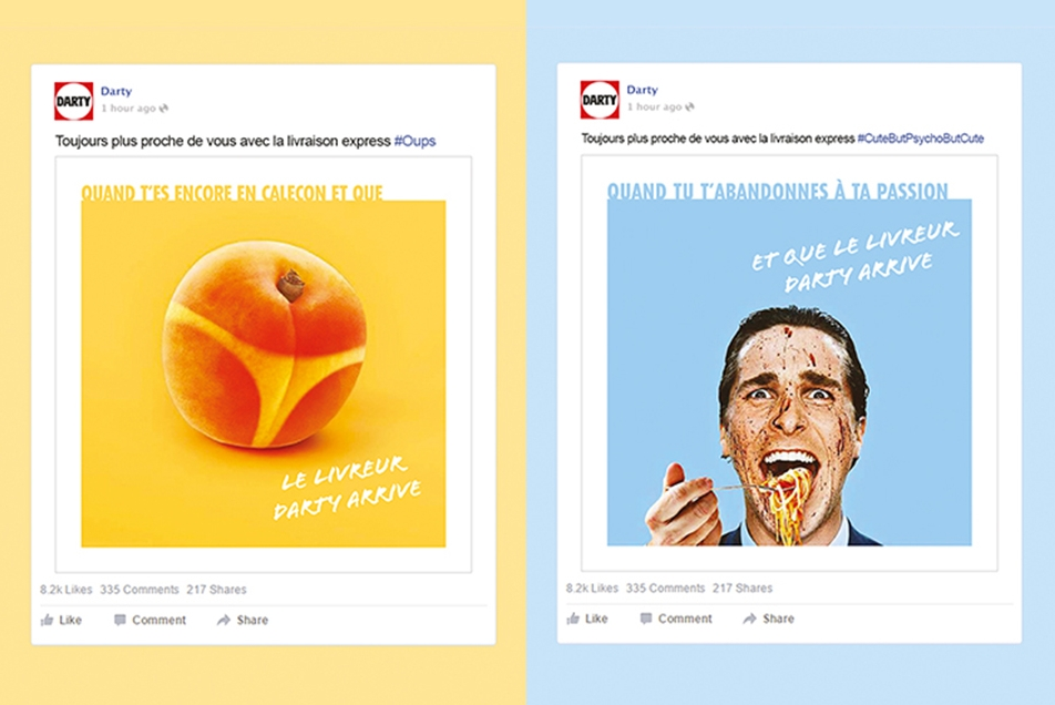 Darty Services - Campagne Social Media Facebook 2016