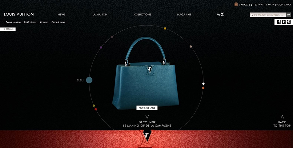 Direction Artistique // Digital // Direction artistique pour le lancement digital de la collection des sacs Capucines par Louis Vuitton. Une collaboration avec BETC Digital.