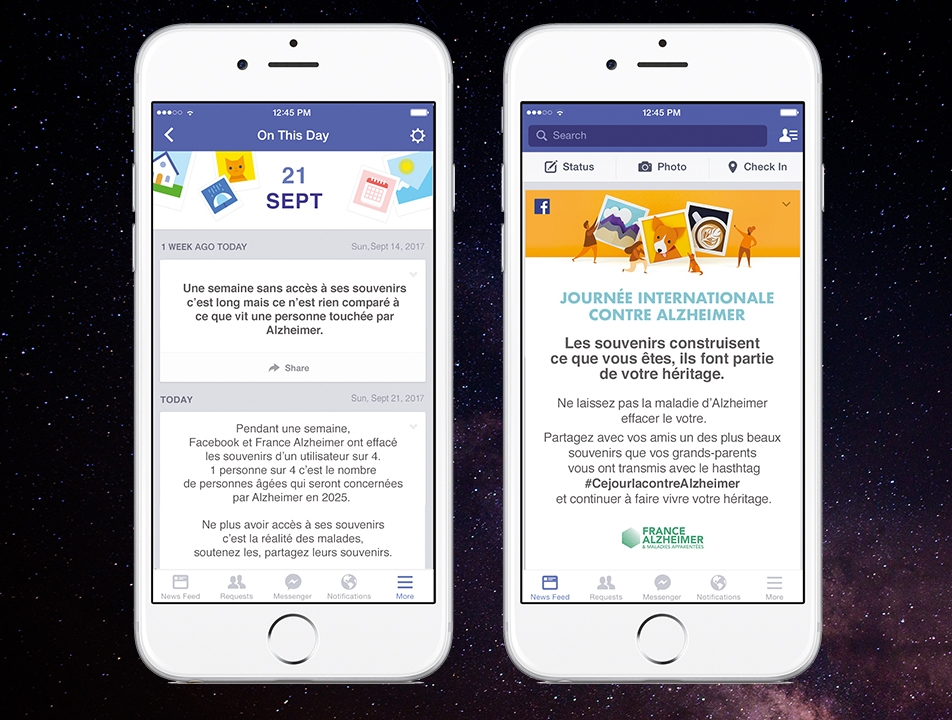 France Alzheimer - Campagne d'activation Facebook 2018